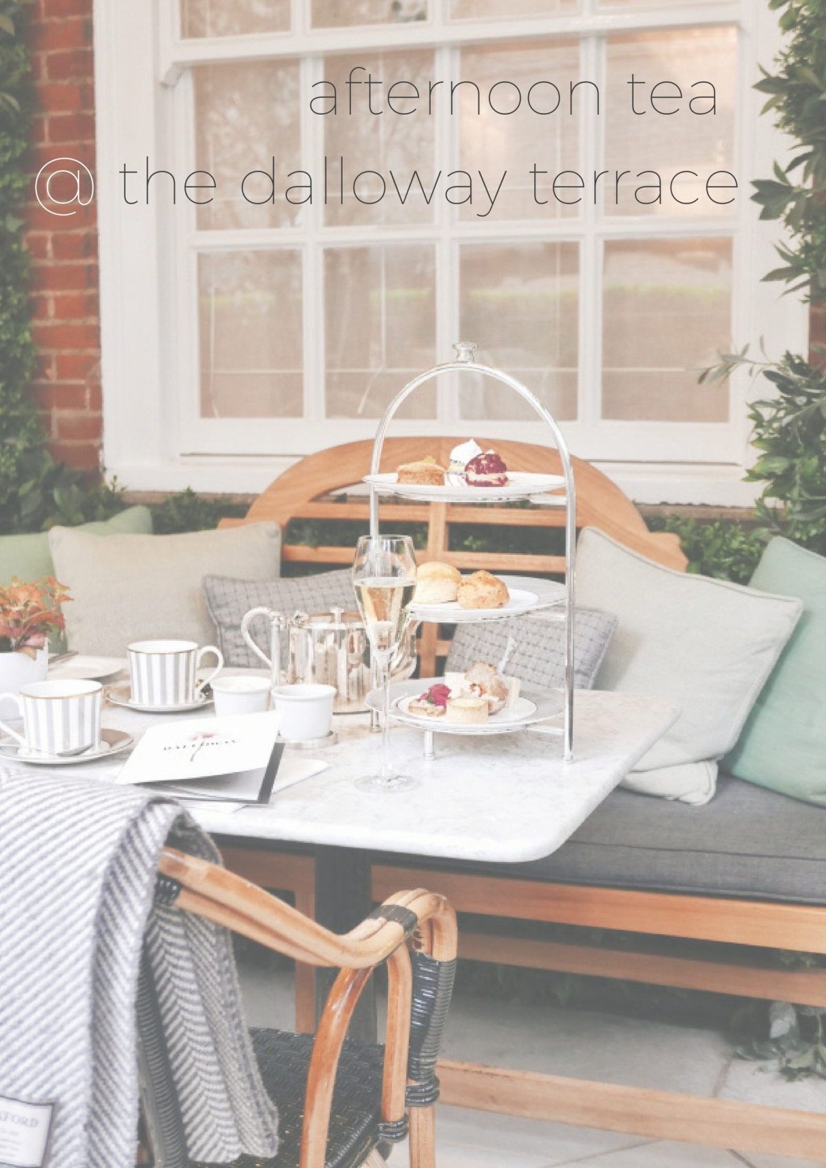 Afternoon Tea @ the Dalloway Terrace, London